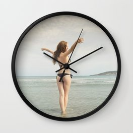 beautiful girl Wall Clock
