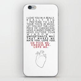 Grey's Anatomy - Pick Me, Choose Me, Love Me.  iPhone Skin