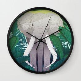 Elephant Jungle Sanctuary Wall Clock
