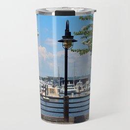 Riverfront Scene Travel Mug