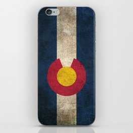 Old and Worn Distressed Vintage Flag of Colorado iPhone Skin
