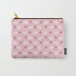Swan, swan art, swan pattern, floral Carry-All Pouch