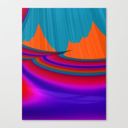 Two Mountain Peaks Abstract Art Canvas Print