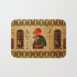 Egyptian Horus Ornament on Papyrus Bath Mat