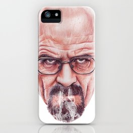 Walter White on Vapor by Cleofe Pacaña iPhone Case