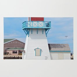 Boarded  Up Lighthouse in Summerside Rug