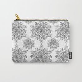 Snowflake Mandala Pattern Carry-All Pouch