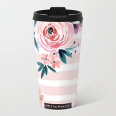 Victoria Blushing Stripe Travel Mug