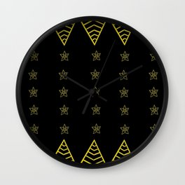 songket rebung-raya Wall Clock