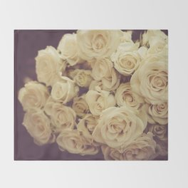 White Roses Throw Blanket