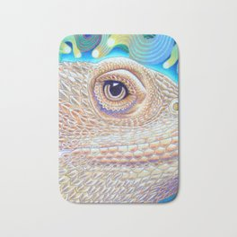 Dragon Star, Bearded Dragon Lizard Art Bath Mat