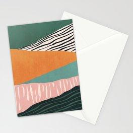 Modern irregular Stripes 02 Stationery Cards