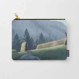 Viking Village in the Forest Carry-All Pouch
