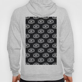 Eye of wisdom pattern - Black & White - Mix & Match with Simplicity of Life Hoody