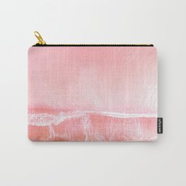 Everything is Pink! Nautical aerial  print ocean Carry-All Pouch