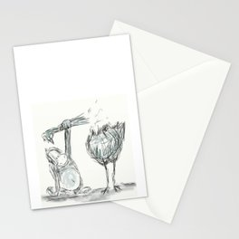 Died Chicken Stationery Cards