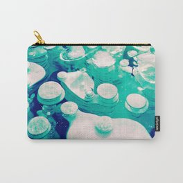 Green Fancy Bubbles Carry-All Pouch