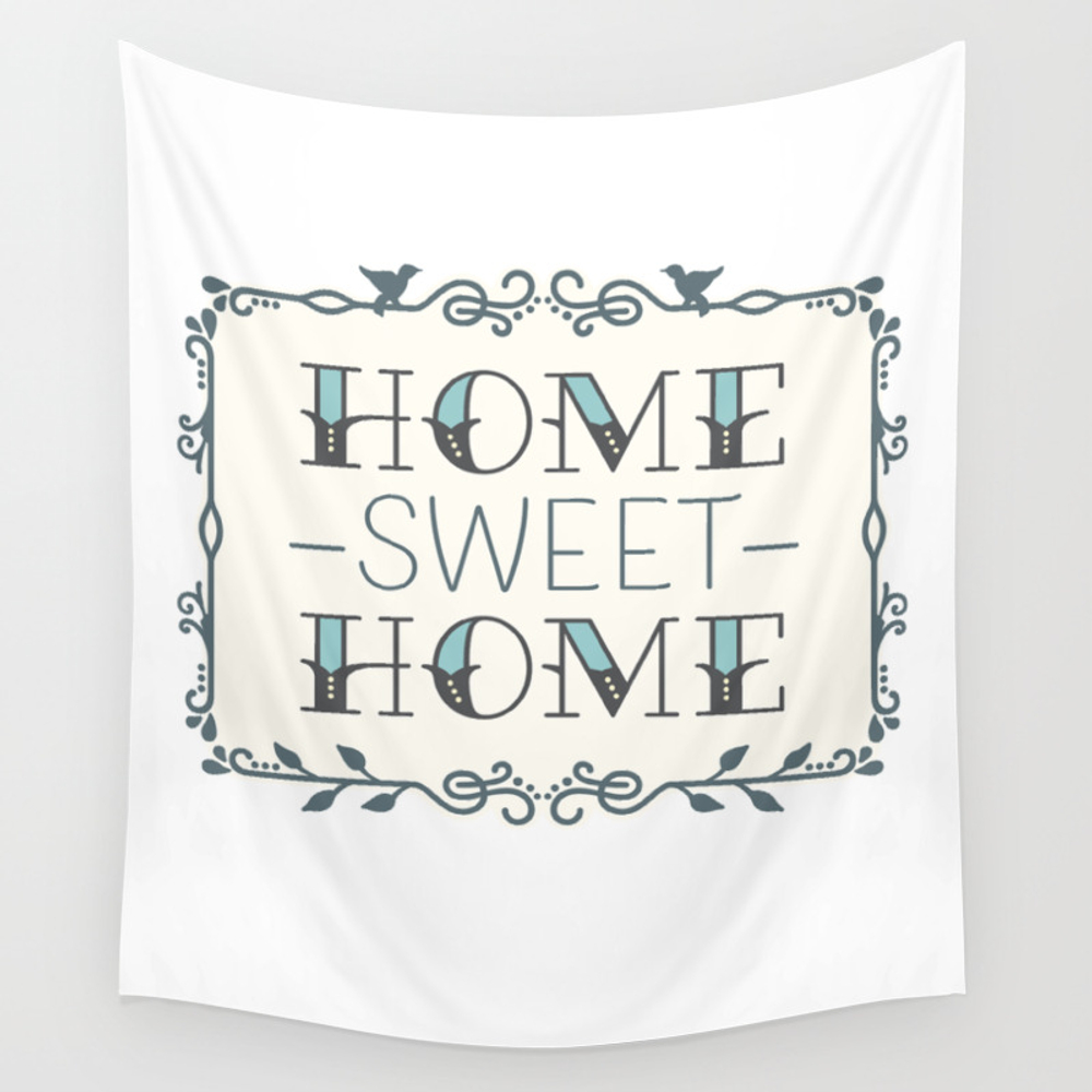 Home Sweet Home (light) Wall Tapestry by Lauraworthingtondesign TPS7890583