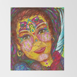 Wisdom Keeper Color #49 (Peaceful Revolution) Throw Blanket