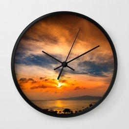 A Sunrise Glow Wall Clock