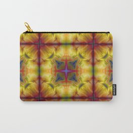 Soft drawing with colorful patterns in batik Carry-All Pouch