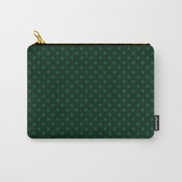 Dark green polka dot Carry-All Pouch