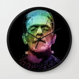frankenstein - pop art Wall Clock