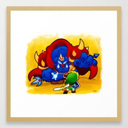 8-Bit Madnss Legend of Zelda Framed Art Print