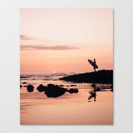 Sunset Surf Reflection Canvas Print