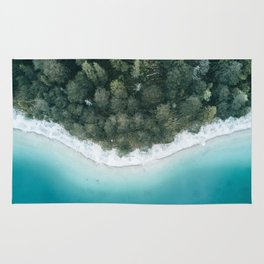 Green and Blue Symmetry - Landscape Photography Rug