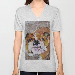 English Bulldog Love Unisex V-Neck