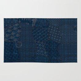 Sashiko - random sampler Rug