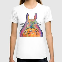 Cute Colorful To to ro - Watercolor Painting - Original T-shirt