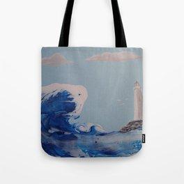 Winter Waves Tote Bag