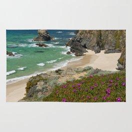 Wild flowers on the Alentejo coast, Portugal Rug