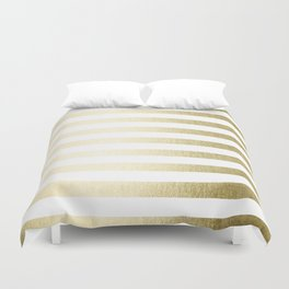 Simply Striped Gilded Palace Gold Duvet Cover