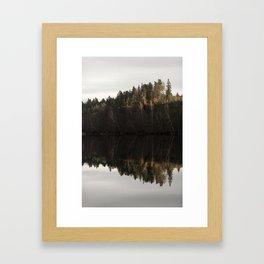 Reflections on a forrest lake 2 Framed Art Print