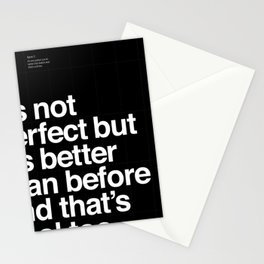 Better than before Stationery Cards