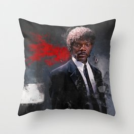 Jules Winnfield Witnesses A Miracle - Pulp Fiction Throw Pillow