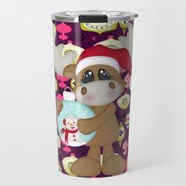 Christmas Ornaments Moose Travel Mug