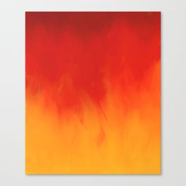 Warm Crackling Fire - Red Canvas Print
