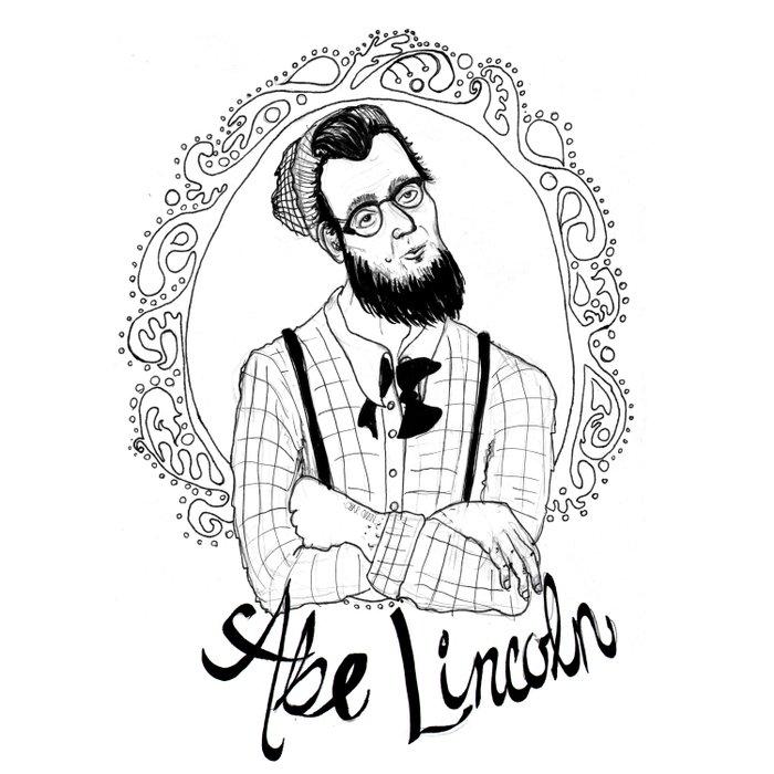 Hipster Abraham Lincoln Duvet Cover