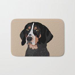 Maggie bluetick coonhound Bath Mat