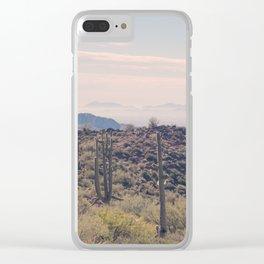 Desert Escape Clear iPhone Case