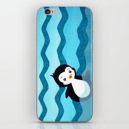 Swimming Penguin iPhone Skin