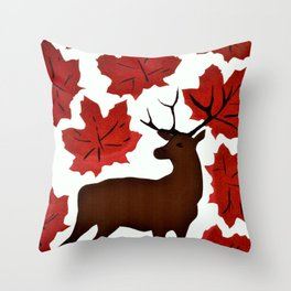 Connections in Nature Throw Pillow