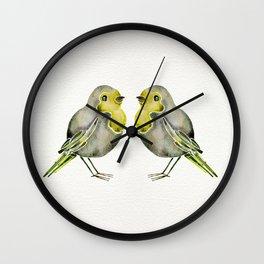 Little Yellow Birds Wall Clock