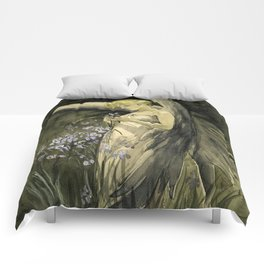 Fairy in Irises Comforters