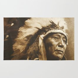 Chief Running Antelope - Native American Sioux Leader Rug