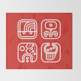 Mayan Glyphs ~ ABSTRACT Throw Blanket